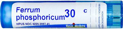 Resfriado Y Gripe, Circulatorio Boiron, Single Remedies, Ferrum Phosphoricum, 30C, 80 Pellets