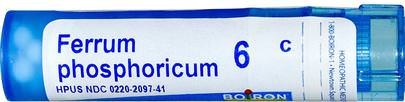 Resfriado Y Gripe, Circulatorio Boiron, Single Remedies, Ferrum Phosphoricum, 6C, 80 Pellets