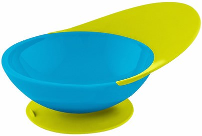 Salud De Los Niños, Alimentos Para Niños, Utensilios De Cocina, Tazas, Tazones De Fuente Boon, Catch Bowl, Toddler Bowl with Spill Catcher, 9 + Months, Blue/Green, 1 Bowl