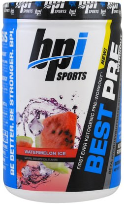 Salud, Energía, Deportes BPI Sports, Best Pre Workout, Watermelon Ice, 11.11 oz (315 g)