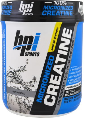 Deportes, Creatina BPI Sports, Micronized Creatine, Limited Edition, Unflavored, 1.32 lbs (600 g)