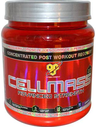Deportes, Deporte, Musculatura BSN, Cellmass 2.0, Concentrated Post Workout Recovery, Grape, 1.06 lbs (485 g)