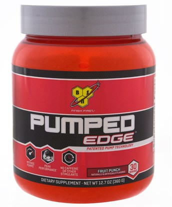 Deportes, Entrenamiento BSN, Pumped Edge, Fruit Punch, 12.7 oz (360 g)