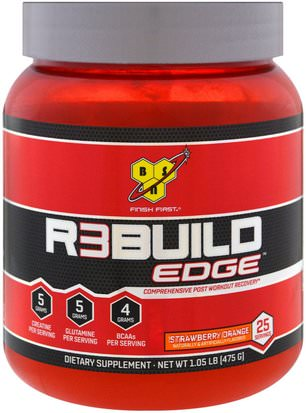 Deportes, Deporte BSN, Rebuild Edge, Strawberry Orange, 1.05 lb (475 g)