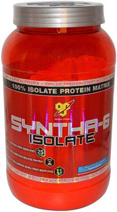 Suplementos, Proteína De Suero De Leche BSN, Syntha-6 Isolate, Protein Powder Drink Mix, Vanilla Ice Cream, 2.01 lbs (912 g)