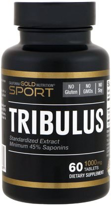 Deportes, Tribulus California Gold Nutrition, CGN, Sport, Tribulus, 1,000 mg, 60 Tablets