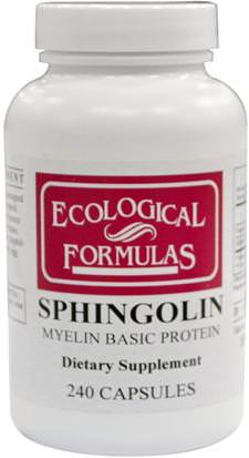 Suplementos, Productos Bovinos, Salud Cardiovascular Research Ltd., Sphingolin, Myelin Basic Protein, 240 Capsules