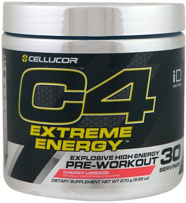 Salud, Energía, Deportes Cellucor, C4 Extreme Energy, Pre-Workout, Cherry Limeade, 9.52 oz (270 g)