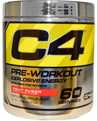 Deportes, Creatina, Entrenamiento Cellucor, C4, Pre-Workout, Explosive Energy, Fruit Punch, 13.75 oz (390 g)