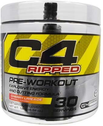 Deportes, Creatina, Entrenamiento Cellucor, C4 Ripped, Pre-Workout, Cherry Limeade, 6.34 oz (180 g)
