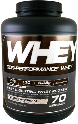 Suplementos, Proteína De Suero De Leche Cellucor, Cor-Performance Whey, Cookies N Cream, 5.19 lb (2352 g)