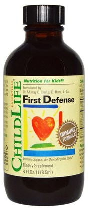 Salud Para Niños, Remedios Herbales Para Niños ChildLife, First Defense, 4 fl oz (118.5 ml)