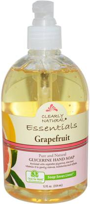 Baño, Belleza, Jabón Clearly Natural, Essential, Glycerine Hand Soap, Grapefruit, 12 fl oz (354 ml)