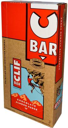 Deportes, Barras De Proteína Clif Bar, Energy Bar, Chocolate Almond Fudge, 12 Bars, 2.4 oz (68 g) Each