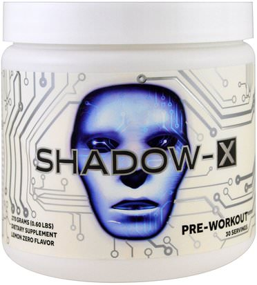 Salud, Energía, Deportes Cobra Labs, Shadow-X, Pre-Workout, Lemon Zero, 0.60 lbs (270 g)