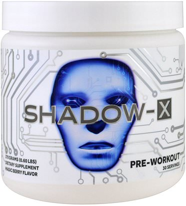 Salud, Energía, Deportes Cobra Labs, Shadow-X Pre-Workout, Magic Berry Flavor, 0.60 lbs (270 g)