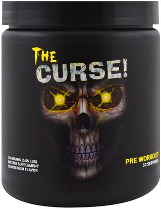 Salud, Energía, Deportes Cobra Labs, The Curse, Pre Workout, Lemon Rush, 0.55 lbs (250 g)