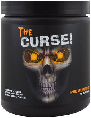 Salud, Energía, Deportes Cobra Labs, The Curse, Pre Workout, Orange Mango Flavor, 0.55 lbs (250 g)