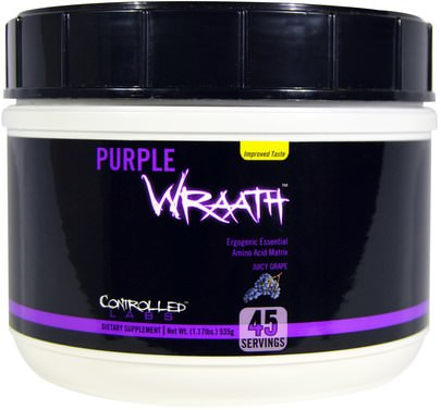 Deportes, Entrenamiento, Suplementos Anabólicos Controlled Labs, Purple Wraath, Juicy Grape, 1.17 lbs (535 g)