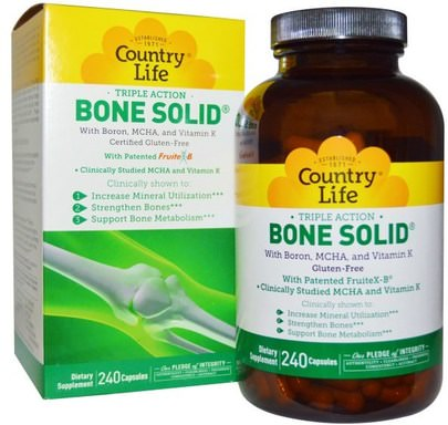Salud, Hueso, Osteoporosis Country Life, Bone Solid, 240 Capsules