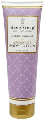 Baño, Belleza, Lociones Y Mantecas De Argán, Loción Corporal Deep Steep, Argan Oil Body Lotion, Lavender - Chamomile, 8 fl oz (236 ml)