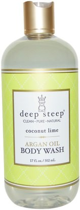 Baño, Belleza, Baño De Argan, Gel De Ducha Deep Steep, Argan Oil Body Wash, Coconut Lime, 17 fl oz (502 ml)