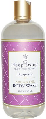Baño, Belleza, Baño De Argan, Gel De Ducha Deep Steep, Argan Oil Body Wash, Fig Apricot, 17 fl oz (502 ml)