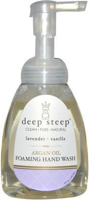 Baño, Belleza, Baño De Argan Deep Steep, Argan Oil Foaming Hand Wash, Lavender - Vanilla, 8 fl oz (237 ml)