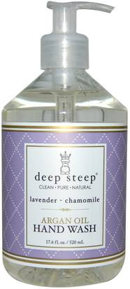 Baño, Belleza, Baño De Argan Deep Steep, Argan Oil Hand Wash, Lavender- Chamomile, 17.6 fl oz (520 ml)