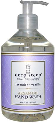 Baño, Belleza, Baño De Argan Deep Steep, Argan Oil Hand Wash, Lavender- Vanilla, 17.6 fl oz (520 ml)