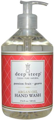Baño, Belleza, Baño De Argan Deep Steep, Argan Oil Hand Wash, Passion Fruit- Guava, 17.6 fl oz (520 ml)