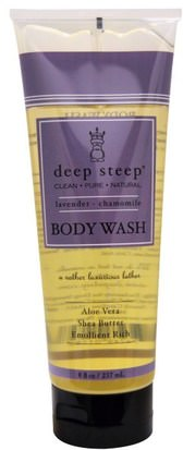 Baño, Belleza, Manteca De Karité, Gel De Ducha Deep Steep, Body Wash, Lavender - Chamomile, 8 fl oz (237 ml)