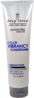 Baño, Belleza, Cabello, Cuero Cabelludo, Champú, Acondicionador, Acondicionadores Deep Steep, Color Vibrancy Conditioner, Luminous Color, 10 fl oz (295 ml)