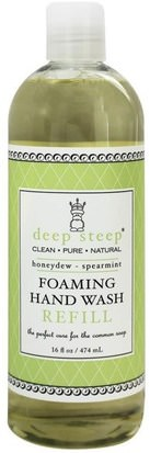 Baño, Belleza, Jabón, Recargas Deep Steep, Foaming Hand Wash Refill, Honeydew-Spearmint, 16 fl oz (474 ml)