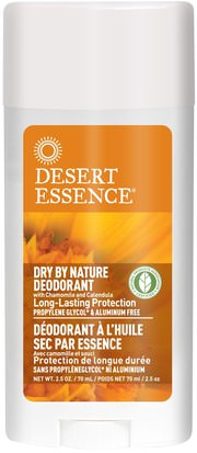 Baño, Belleza, Desodorante, Salud, Piel Desert Essence, Dry By Nature Deodorant, with Chamomile and Calendula, 2.5 oz (70 ml)