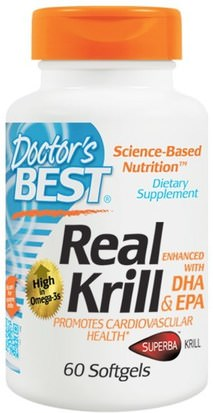 Suplementos, Efa Omega 3 6 9 (Epa Dha), Aceite De Krill, Aceite De Krill Neptuno Doctors Best, Real Krill, Enhanced with DHA & EPA, 60 Softgels