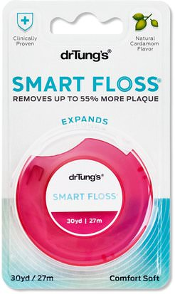 Baño, Belleza, Cuidado Dental Bucal, Hilo Dental Dr. Tungs, Smart Floss, Natural Cardamom Flavor, 30 yd (27 m)