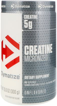 Deportes, Creatina Dymatize Nutrition, Creatine Micronized, Unflavored, 10.6 oz (300 g)