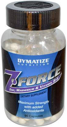 Suplementos, Suplementos Anabólicos, Minerales Dymatize Nutrition, ZForce, 90 Capsules