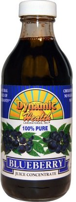Alimentos, Café, Té Y Bebidas, Zumos De Frutas Dynamic Health Laboratories, Dynamic Health Laboratories, Pure Blueberry 100% Juice Concentrate, 8 fl oz (237 ml)