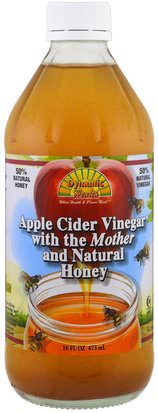 Salud, Desintoxicacion Dynamic Health Laboratories, Apple Cider Vinegar With Mother & Honey, 16 fl oz (473 ml)