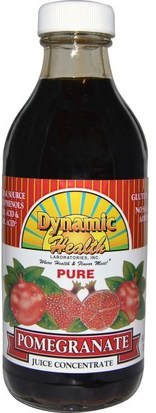Alimentos, Café, Té Y Bebidas, Zumos De Frutas Dynamic Health Laboratories, Dynamic Health Laboratories, Pure Pomegranate Juice Concentrate, 8 fl oz (237 ml)