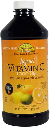 Alimentos, Café, Té Y Bebidas, Zumos De Frutas Dynamic Health Laboratories, Liquid Vitamin C, Natural Citrus Flavors, 1000 mg, 16 fl oz (473 ml)