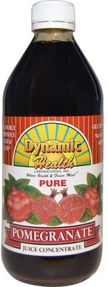 Alimentos, Café, Té Y Bebidas, Zumos De Frutas Dynamic Health Laboratories, Pure Pomegranate Juice Concentrate, 16 fl oz (473 ml)
