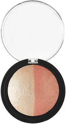 Baño, Belleza, Maquillaje E.L.F. Cosmetics, Baked Highlighter & Blush, Rose Gold, 0.183 oz (5.2 g)