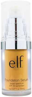 Cara E.L.F. Cosmetics, Beautifully Bare Foundation Serum, Broad Spectrum SPF 25 Sunscreen, Light/Medium, 0.47 fl (14 ml)