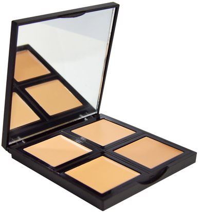 Cara E.L.F. Cosmetics, Foundation Palette, Light/Medium, 0.43 oz (12.4 g)