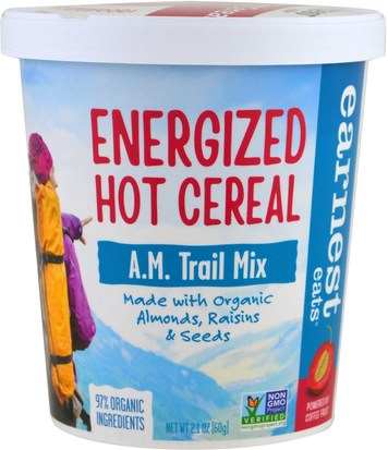 Alimentos, Alimentos, Cereales, Cereales Integrales, Harina De Avena Y Avena Earnest Eats, Energized Hot Cereal, A.M. Trail Mix, 2.1 oz (60 g)