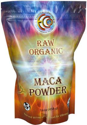 Suplementos, Adaptógeno, Superalimentos Earth Circle Organics, Raw Organic Maca Powder, 16 oz (454 g)