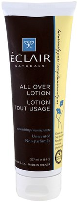 Salud, Piel, Loción Corporal Eclair Naturals, All Over Lotion, Nourishing. Unscented, 8 fl oz (237 ml)